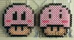 Kirby Mushrooms by PerlerPixie
