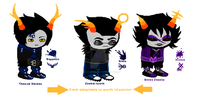 Highblood fantroll ADOPTABLES (1/3 OPEN!!) by MegaAzornumbers09