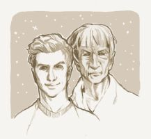 New Kirk, Old Spock by Joanna-Estep