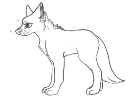 Free canine lineart by XxkirstrexxX