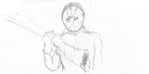 Jason Voorhees Sketch by TheIcedWolf