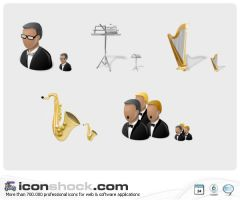 Orchestra Icons by Iconshock