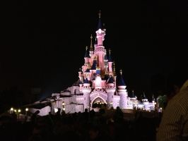 Sleeping Beauty's Castle: Night Edition by ChloeRhiannonX