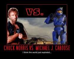 Chuck Norris Vs. Caboose by ProfessorNature