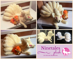 Ninetales Plush by WolfPink