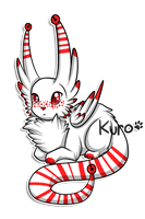 Baby Bell Weasel: Greedy-Masked-Cross by Kuro-Creations