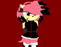 Amy Rose the Vampire by sonicandshadowfan