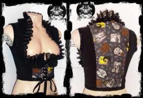 Nightmare Before Christmas Underbust Vest by annaladymoon