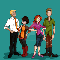 Scooby Gang by TopHatTurtle