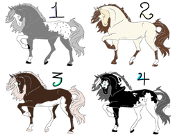 4 point horse adopts! 1 left!!! by Flyingfetlocks
