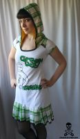 Green Day hoodie dress by smarmy-clothes