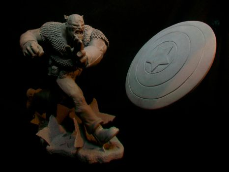 Captain America Sculpt by Sandoval-Art