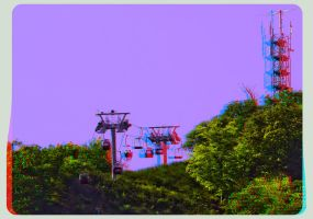 Teleferic Thale 3D ::: HDR Anaglyph Stereoscopy by zour