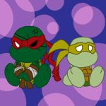 Plushies of Raphael and Renoir by Tigerfog