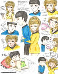 TOS: Spock and Fem!Kirk Doodles 1 by MANGAMANIAC666