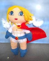 Powergirl cookie plushie by prismtwine