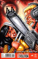 X-23 vs Buzzsaw sketch cover by gb2k