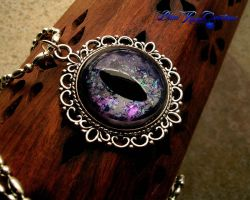 Rainbow Shatterings - Black Gray Violet Dragon Eye by LadyPirotessa
