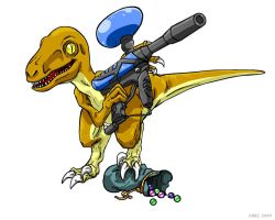 Velociraptor's Paintball by ChezTheDemon