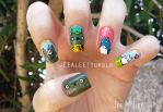 My Neighbor Totoro Nails by jeealee