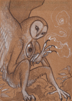 Owl Creature ACEO by thedancingemu
