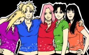 Naruto Ladies by cyber09