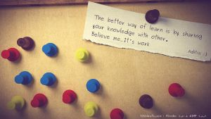 Weekly Inspirational Art 1 : Pin a letter by aditpratama1