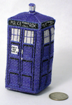 Mini TARDIS 3D Cross Stitch by rhaben