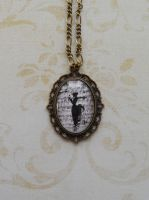 Necklace with Black Woman pendant by SteamJo