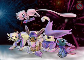 CE: Pokemon New Year by shadowhatesomochao