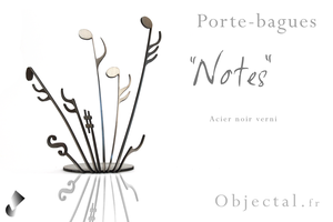 [Objectal.fr] Porte bagues '' Notes '' Acier Noir by Objectal