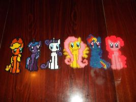 MLP:FIM Main Six Hama Beads by A-Little-Dragon