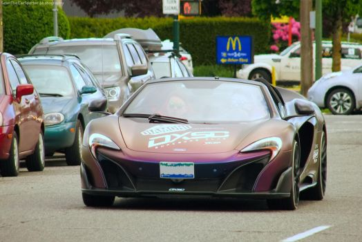 Purple 675LT by SeanTheCarSpotter