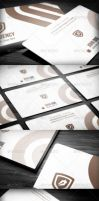 Brown Business Card by calwincalwin