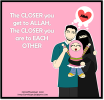 Blessed Family 2 (with niqob) by littleMuslimah