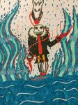 Battle against underfell sans in water ? by shadowthehedgehogzx
