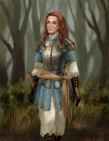 lady knight by adelruna