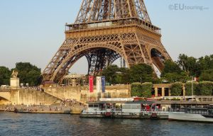 Docks outside the Eiffel Tower by EUtouring