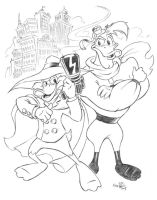 Darkwing Duck and Launchpad by KneonT