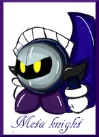 Meta Knight by RoseBereArtist