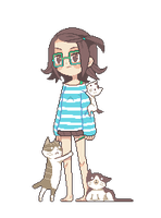 Surrounded by cats by HazelRuko