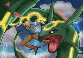 COLLAB: Rayquaza by CraigWM