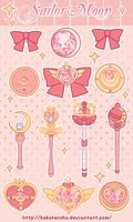 Sailor moon stickers by KokoTensho