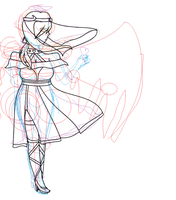Tess life vs death wip by AdorableEvil29
