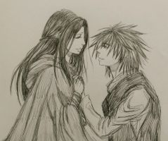 That's Seven Words.... - Kvothe and Denna by ShadowSakura25