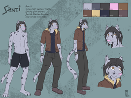 Comm. - Santi Ref Sheet by Hipster-Coyote