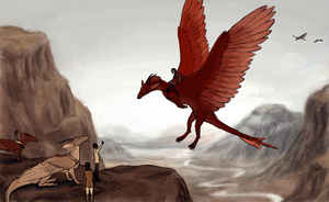 The Dragonriders by RainFreckles