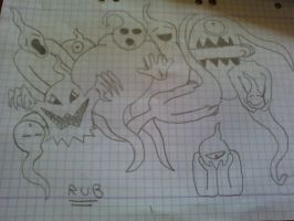 Drawing: Ghost Family by rubenimus21
