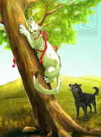 Chased up a tree by ElementalSpirits