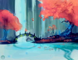 + Speedpaint: Places We Never Went Together by moxiv